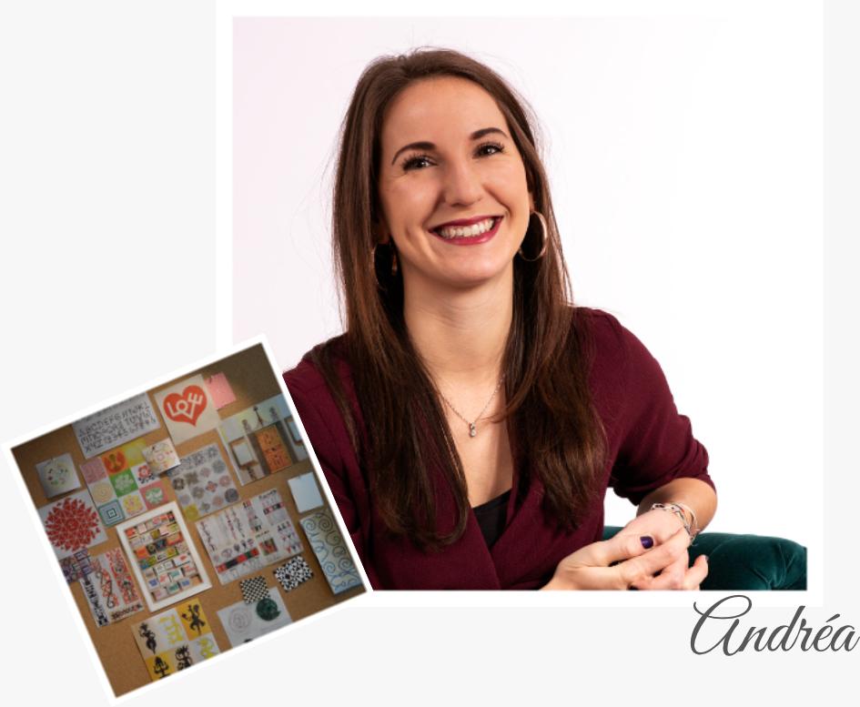 Je suis Andréa, votre graphiste et community manager. J'ai été formée à être opérationnelle dans le graphisme et la communication.