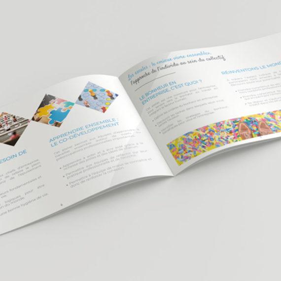 Création, mise en page du catalogue de formation de Déclic & Go. Travail d'harmonisation des textes et des photos.