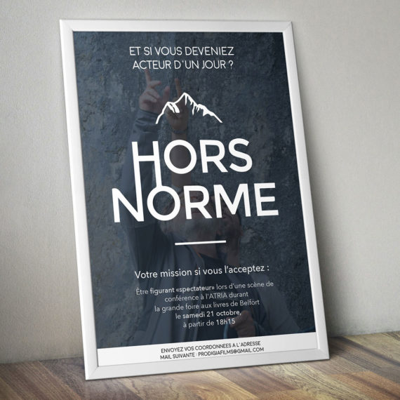 Création de l'affiche et retouche photo pour le film Hors Norme