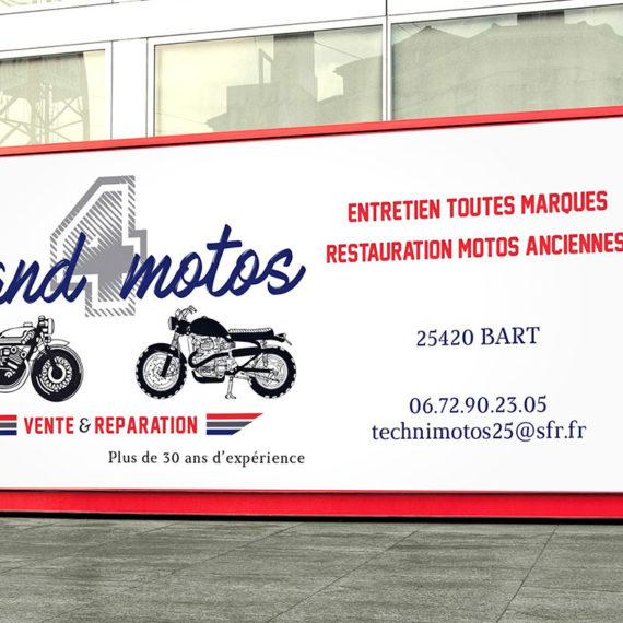 Création d'une banderole publicitaire pour l'entreprise Stand Motos